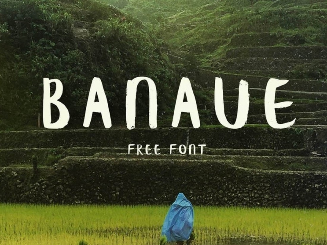 Banaue-Free-Handwritten-Brush-Font 25+ Free Brush, Script & Hand Lettering Fonts design tips