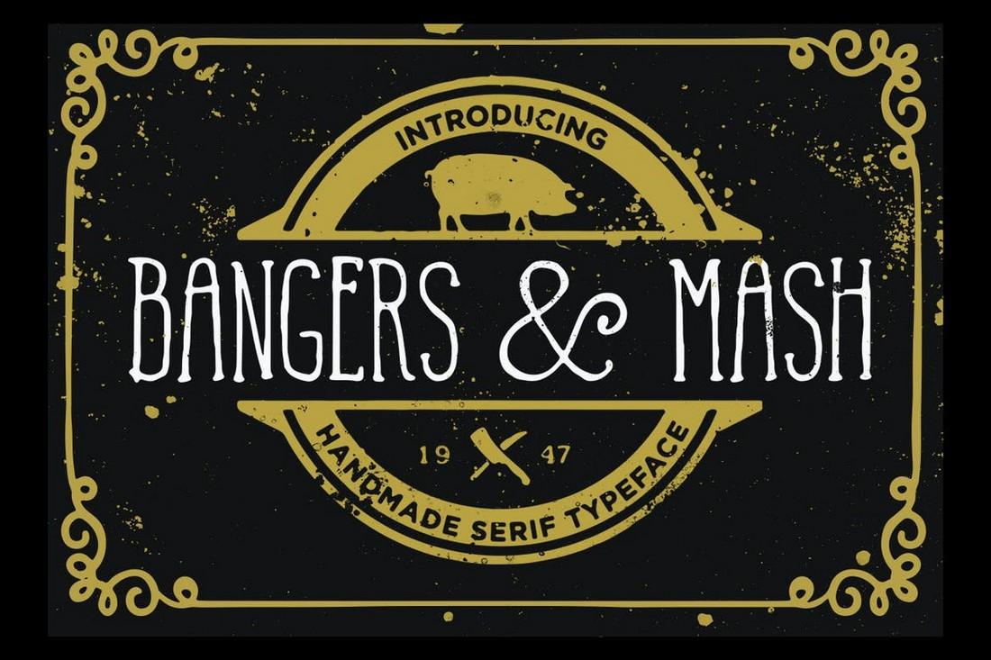 Bangers and Mash - Rustic Wedding Font