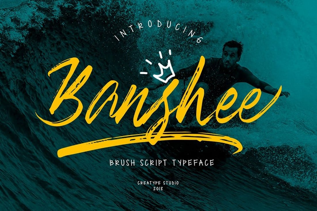 Banshee-Brush-Font 60+ Best Free Fonts for Designers 2019 (Serif, Script & Sans Serif) design tips