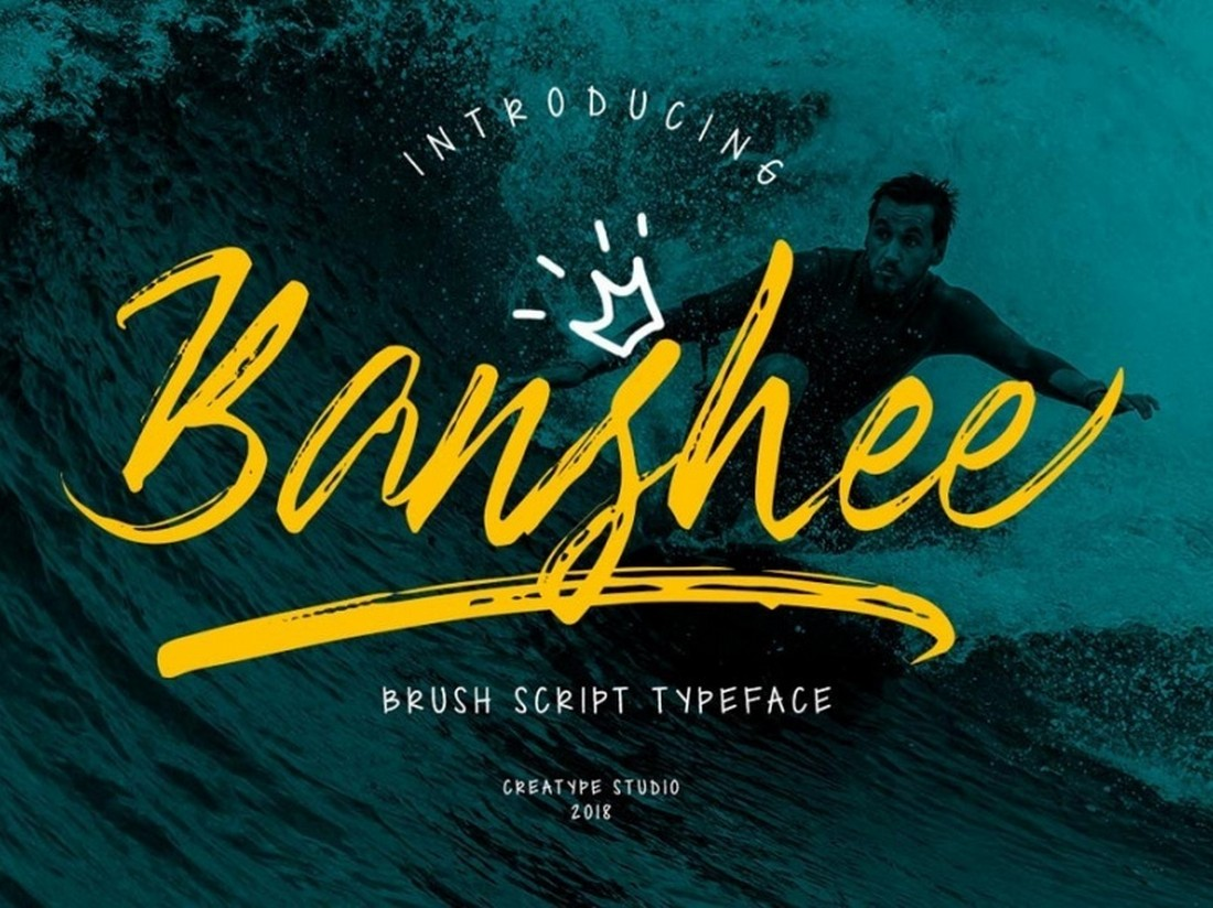 Banshee-Free-Brush-Script-Font 25+ Free Brush, Script & Hand Lettering Fonts design tips
