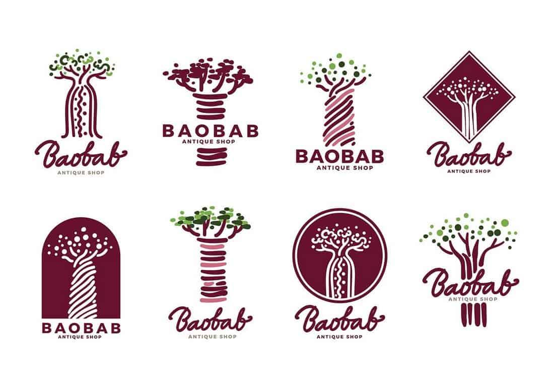 Baobab Creative Vector Logo Templates