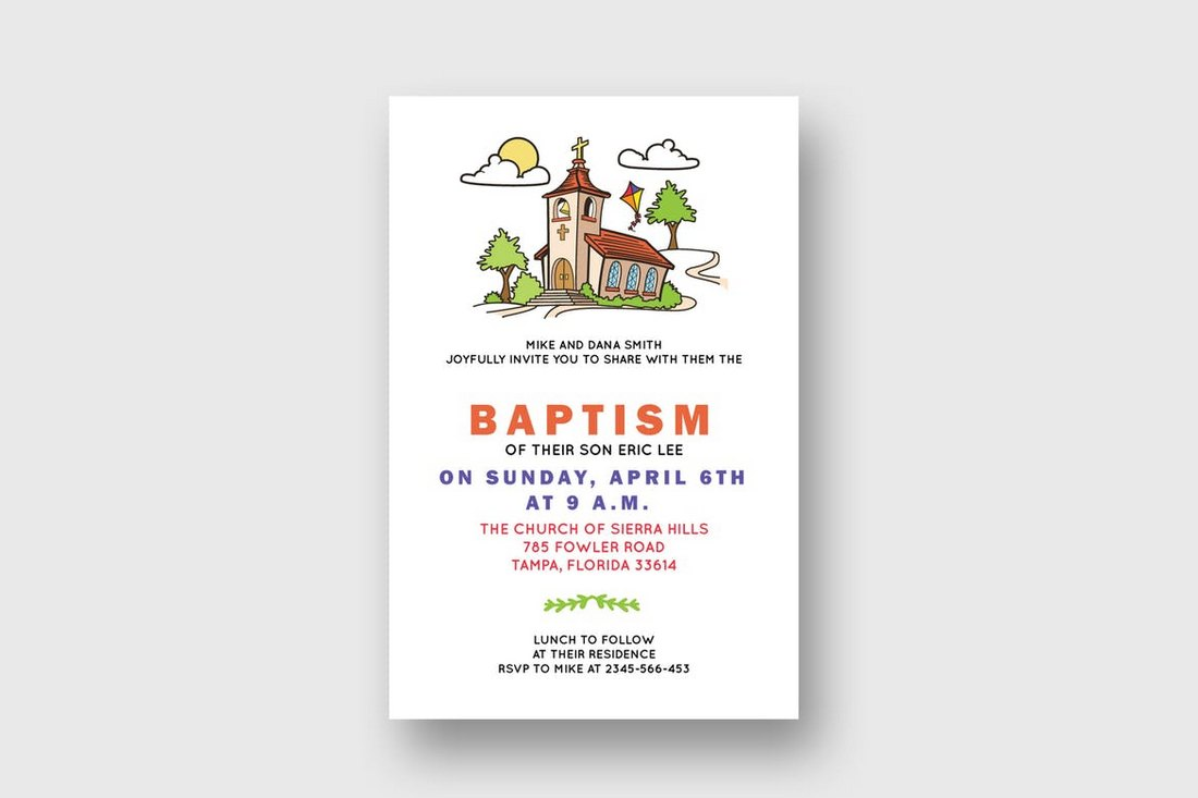 Baptism-Church-Bulletin-Template 20+ Church Bulletin & Newsletter Templates design tips