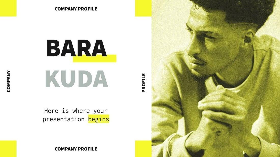 Barakuda - Free Company Profile PowerPoint Template