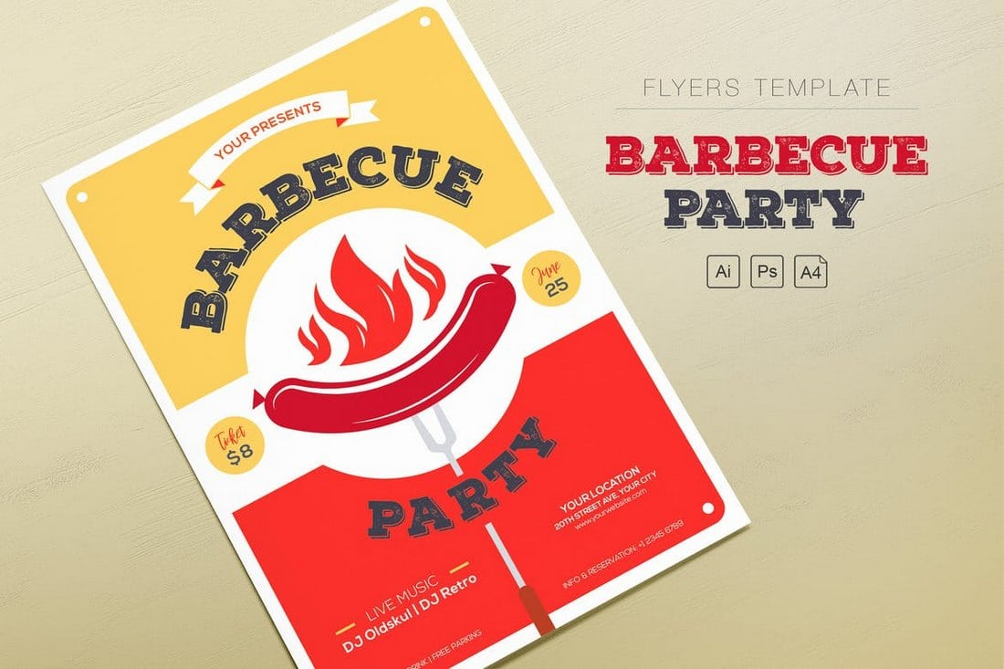 Barbecue-Party-Flyers 30+ Best Event Flyer Templates design tips