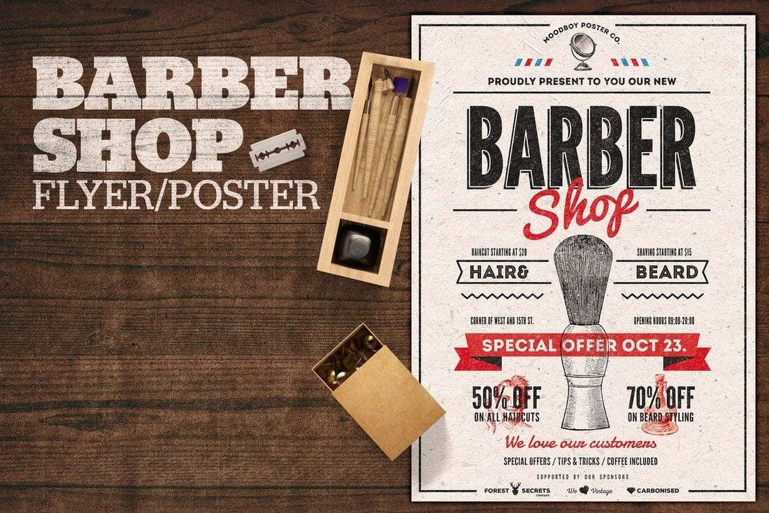 Barber-Shop-Flyer-Poster 27 Inspiring Letterpress Style Posters design tips