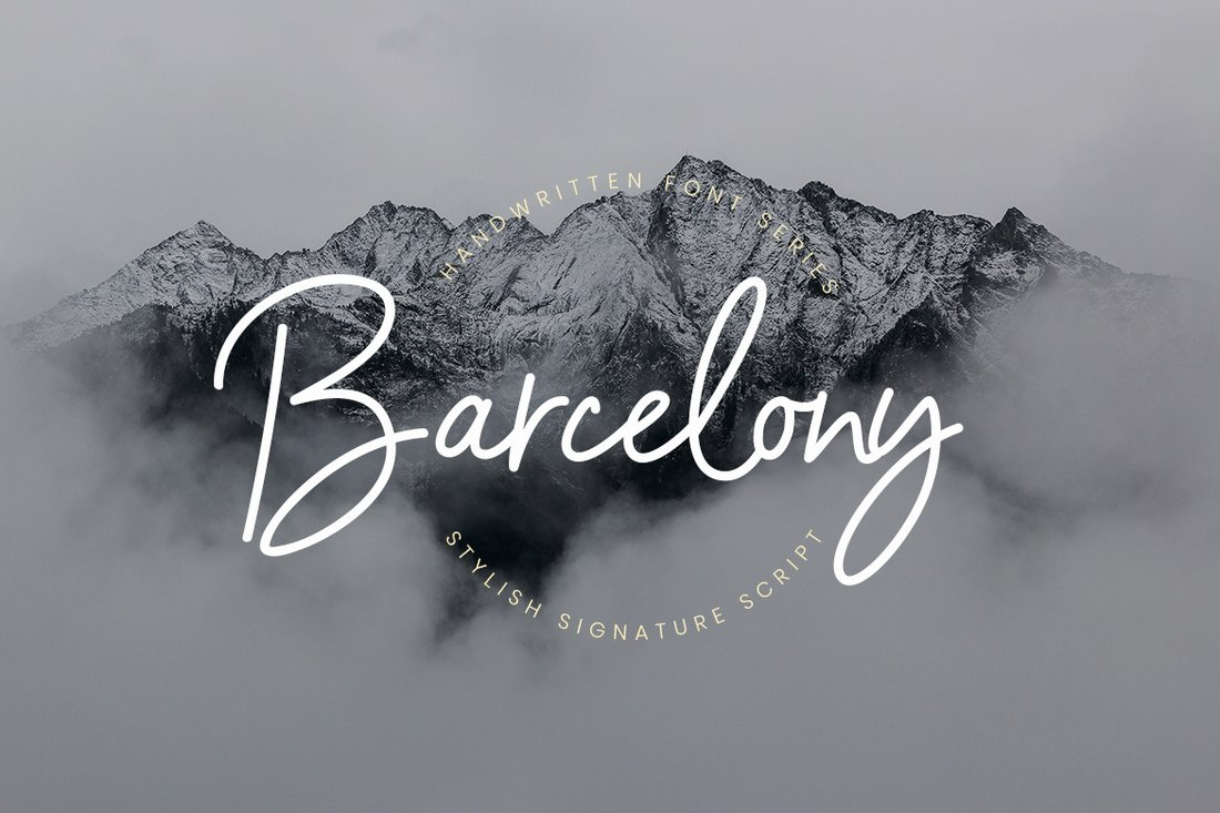 Barcelony-Modern-Free-Script-Font-1 30+ Bold & Free Script Fonts design tips  Typography|fonts|script