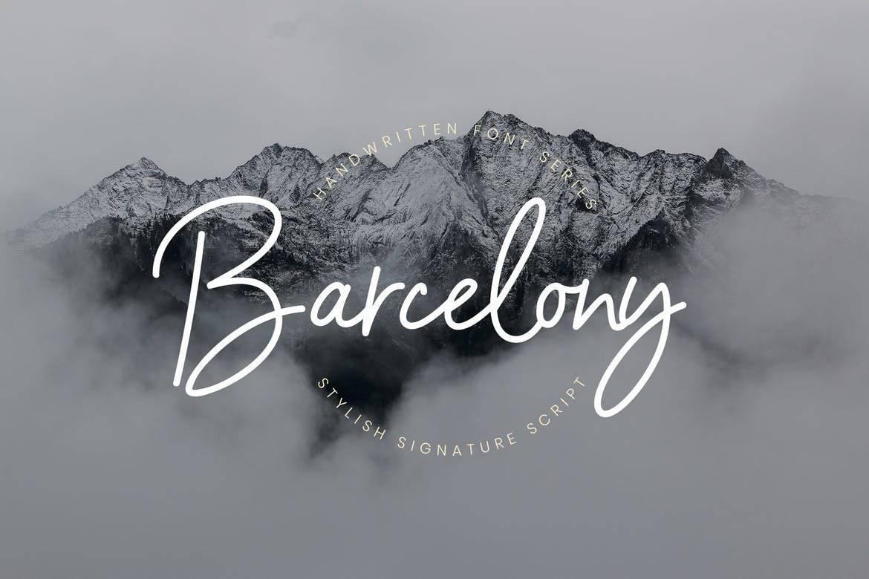 Barcelony Signature Logo Font