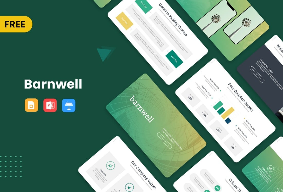 Barnwell Free Business Presentation Template