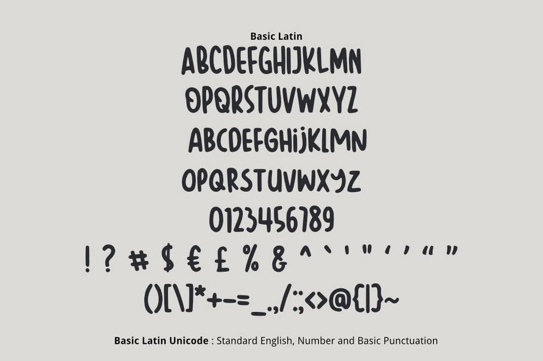 Barokah - Unique Number Font