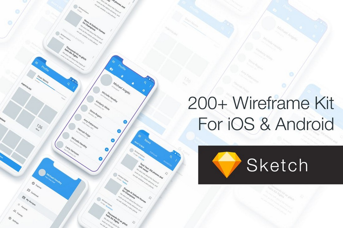 Baseframe - Wireframe UI KIT 200+ Templates