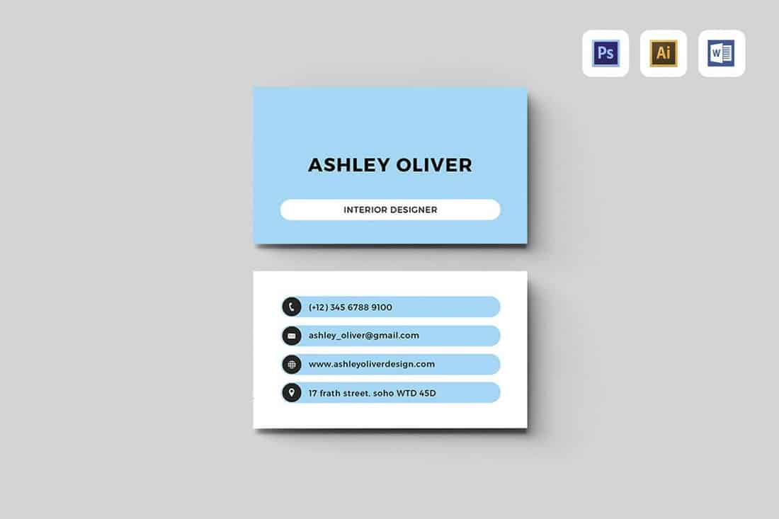 Basic Business Card Template (Word)
