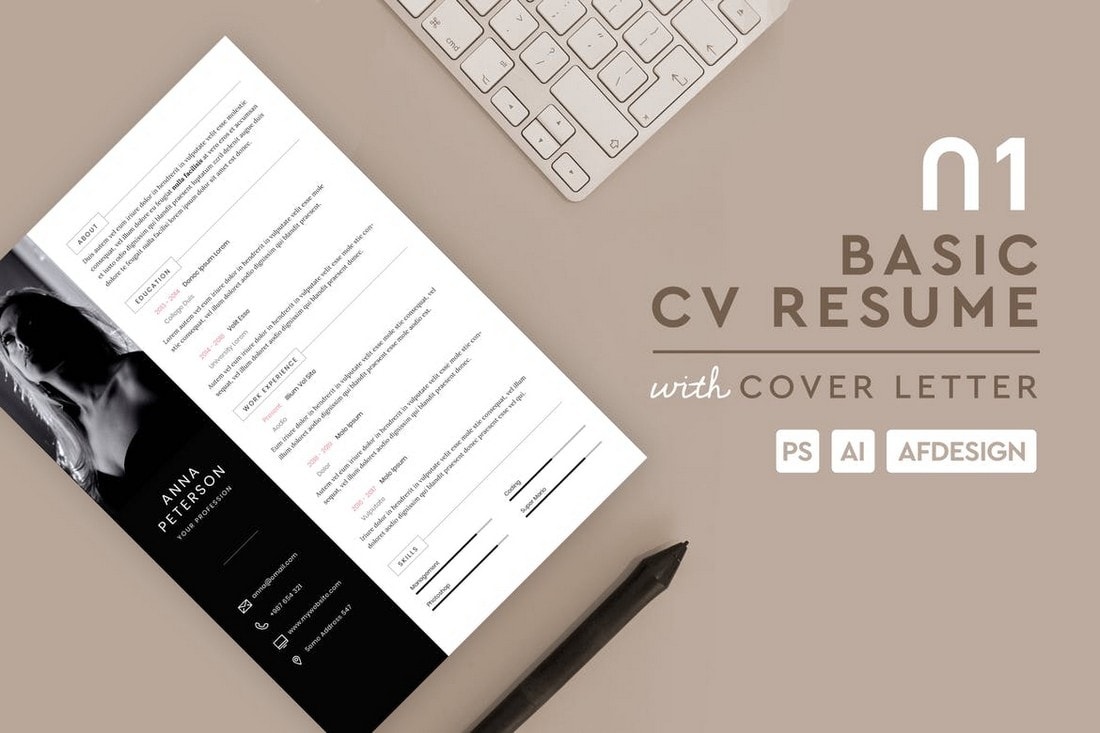 Basic-Resume-CV-Affinity-Designer-Template 20+ Best Affinity Designer Templates & Assets 2020 design tips  Inspiration