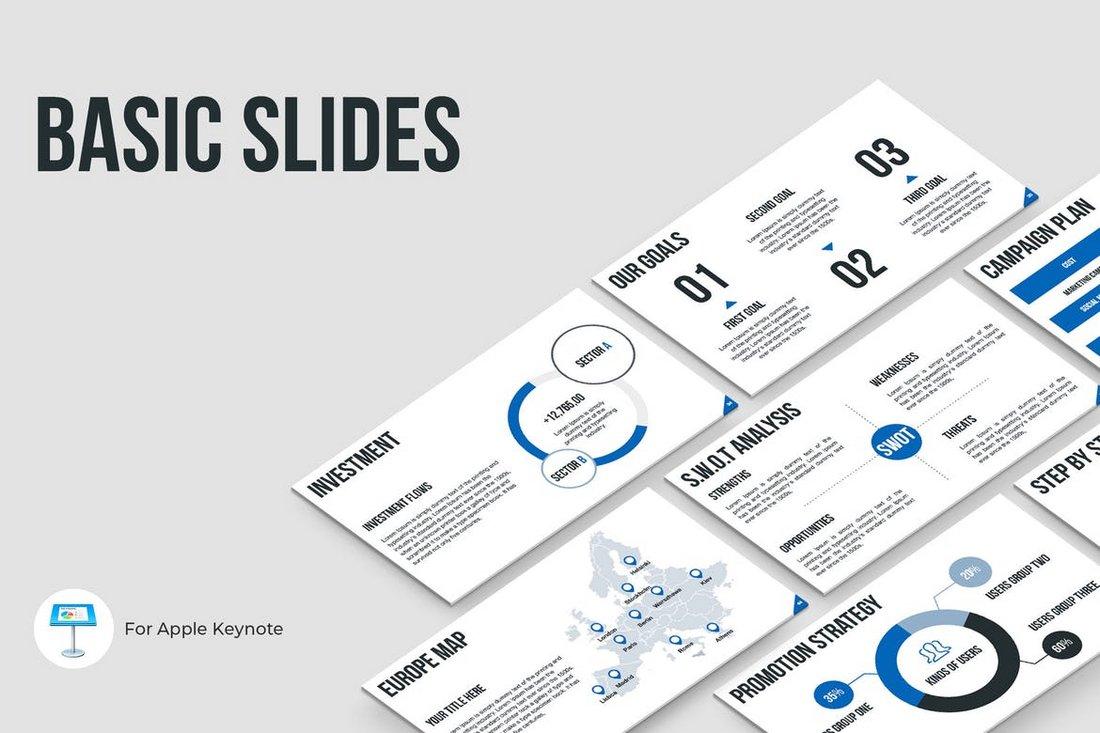 Basic Slides Keynote Template
