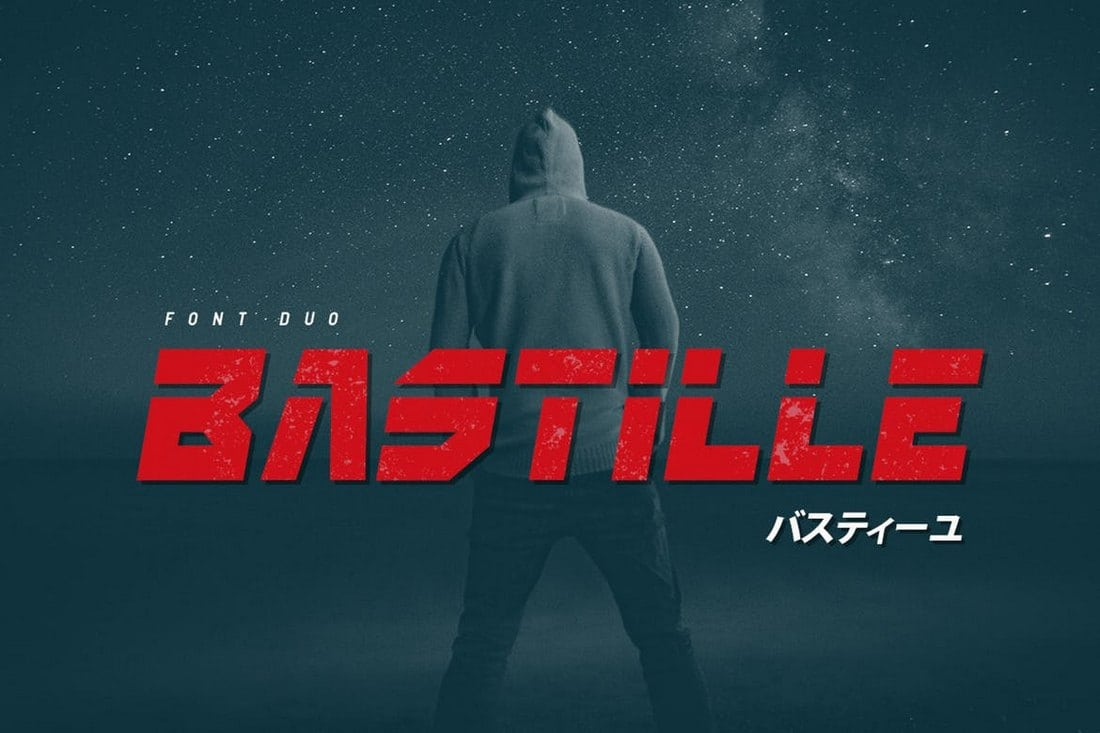 Bastille-1 30+ Best Stencil Fonts design tips