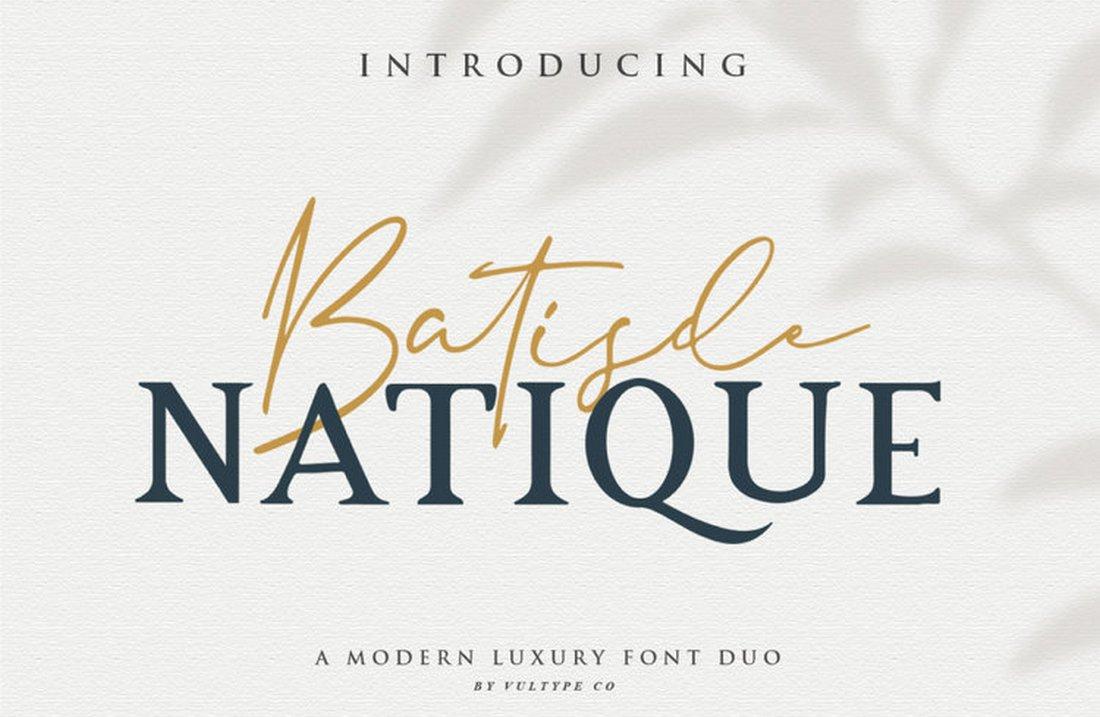 Batisde - Free Luxury Font Duo