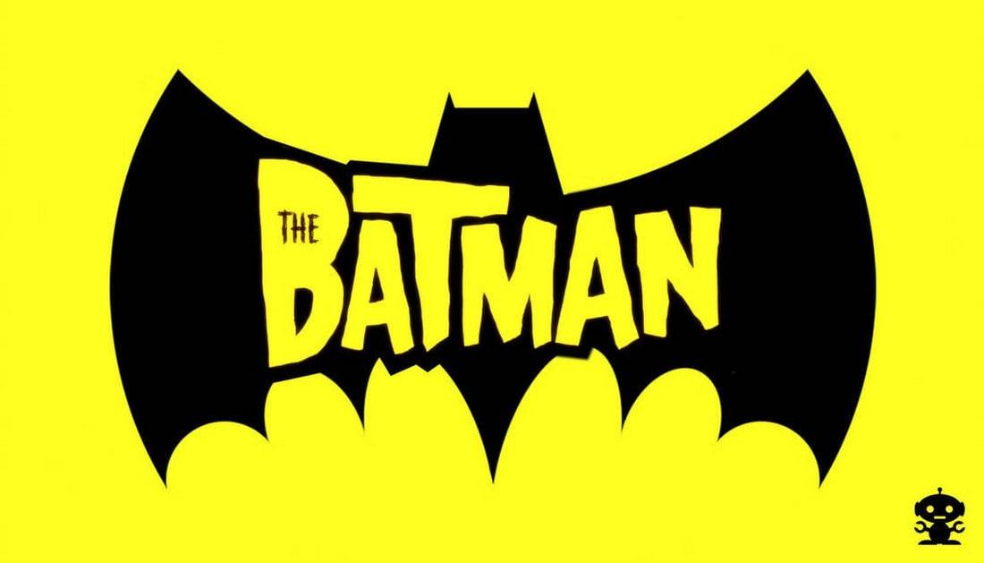Batman Cartoon Title Logo Template