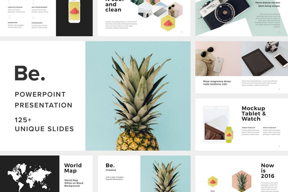 Be. Modern Powerpoint Presentation Template