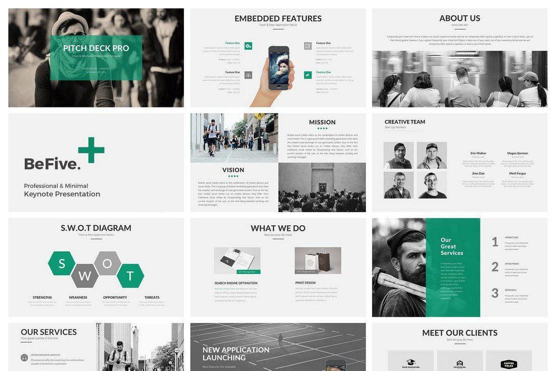 BeFive-Keynote-Template 30+ Best Minimal & Creative Keynote Templates design tips
