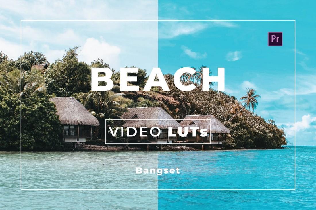 Beach Video LUTs for Premiere Pro