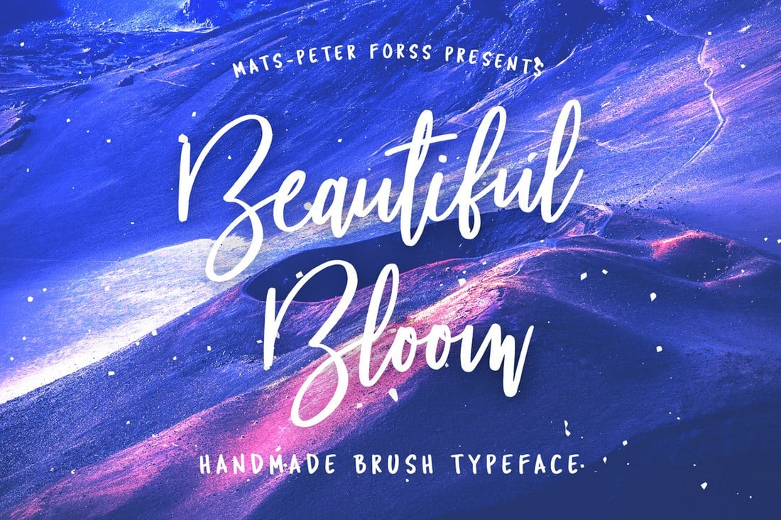 Beautiful-Bloom-Free-Brush-Font 60+ Best Free Fonts for Designers 2019 (Serif, Script & Sans Serif) design tips