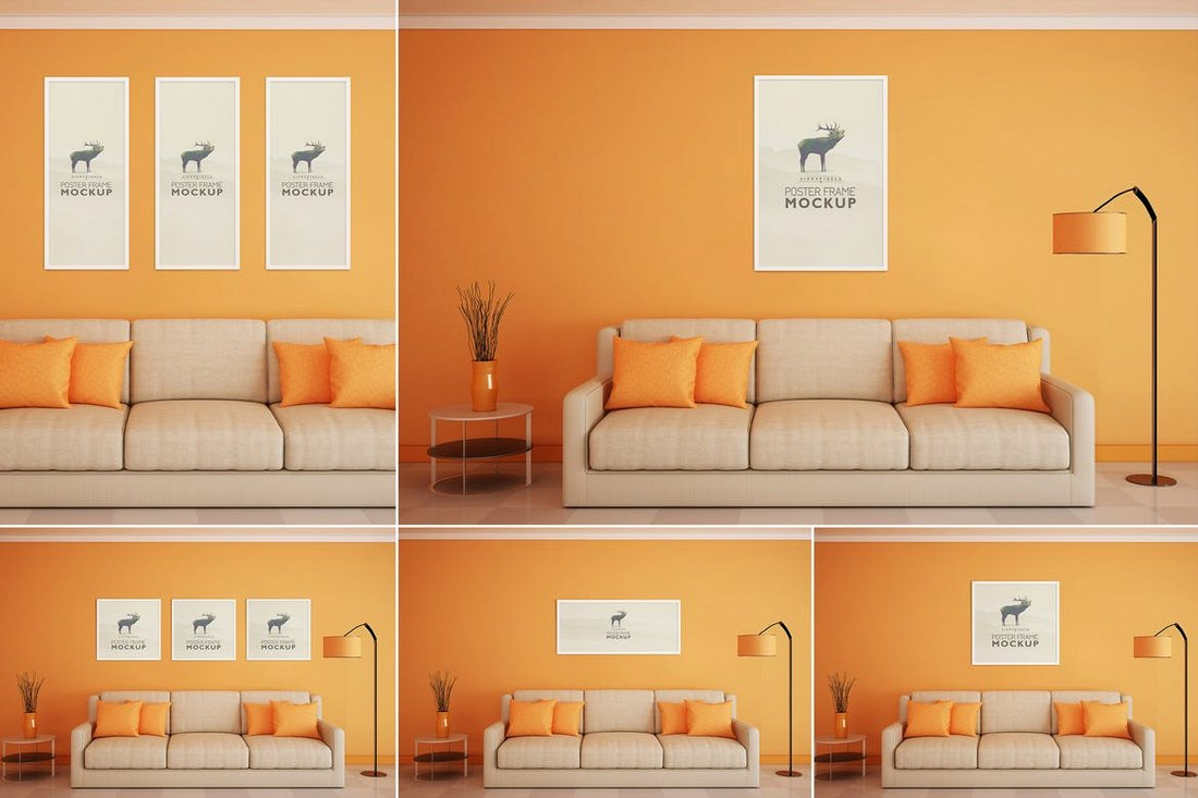 Beautiful Poster Frame Mockups