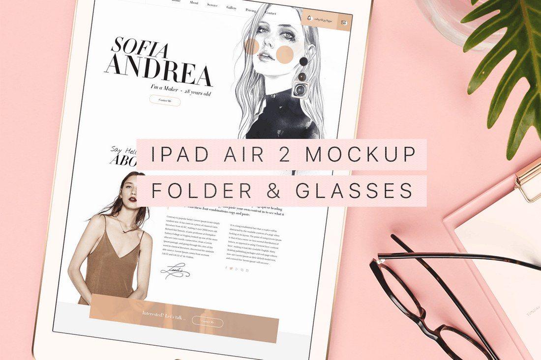 Beautiful-Trendy-iPad-Air-2-Mockup-2 100+ iPad Mockups: PSDs, Photos & Vectors design tips