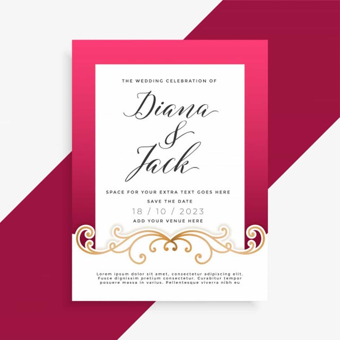 Beautiful Wedding Invitation Template