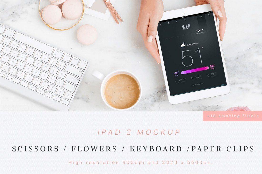 Beauty-Flowers-iPad-2-Mockup 100+ iPad Mockups: PSDs, Photos & Vectors design tips