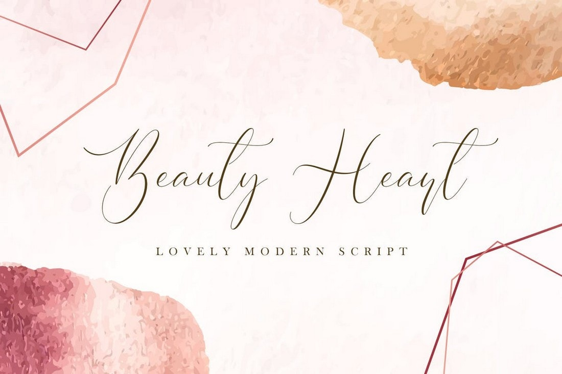 Beauty Heart - Lovely Calligraphy Font