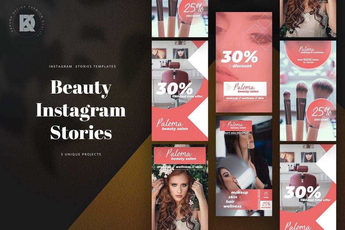 Beauty Instagram Sotries Templates