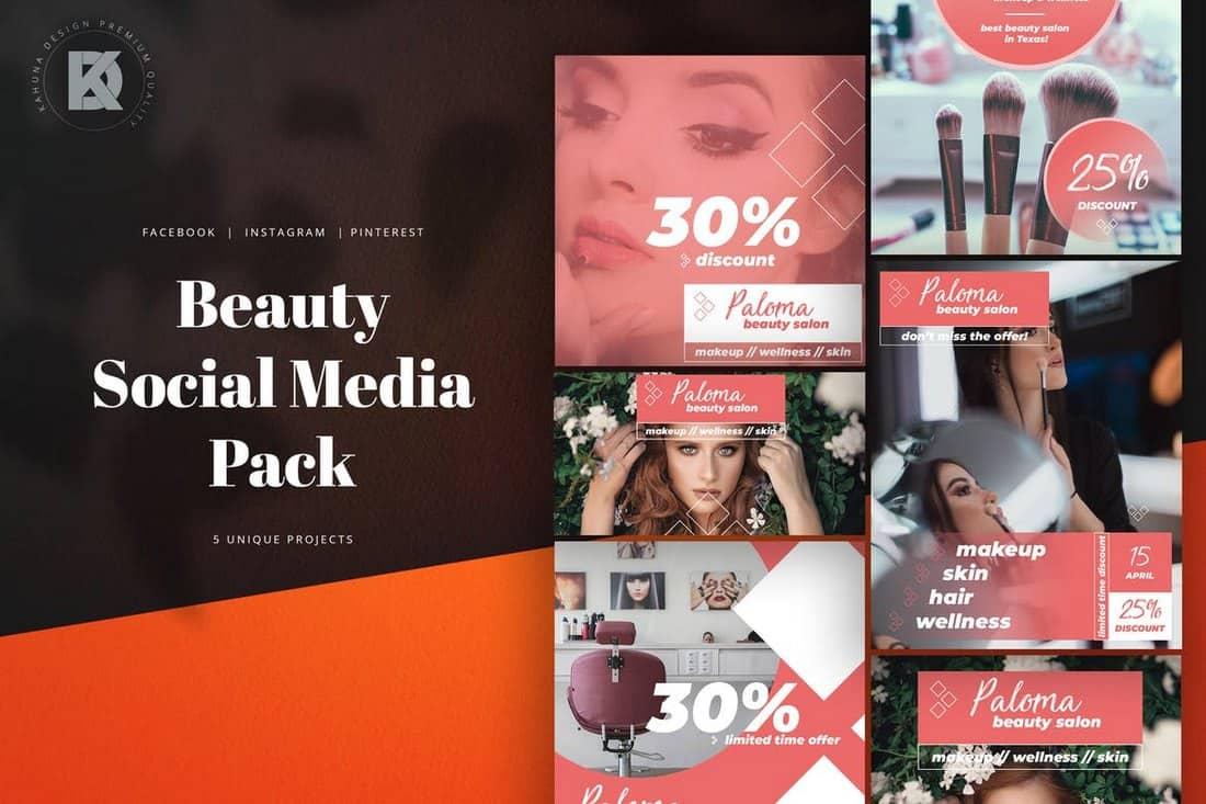 Beauty & Salon Social Media Templates