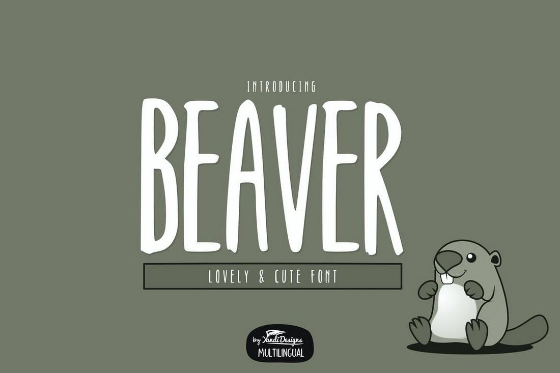 Beaver-Font-Creative-Narrow-Font 50+ Best Condensed & Narrow Fonts of 2020 design tips
