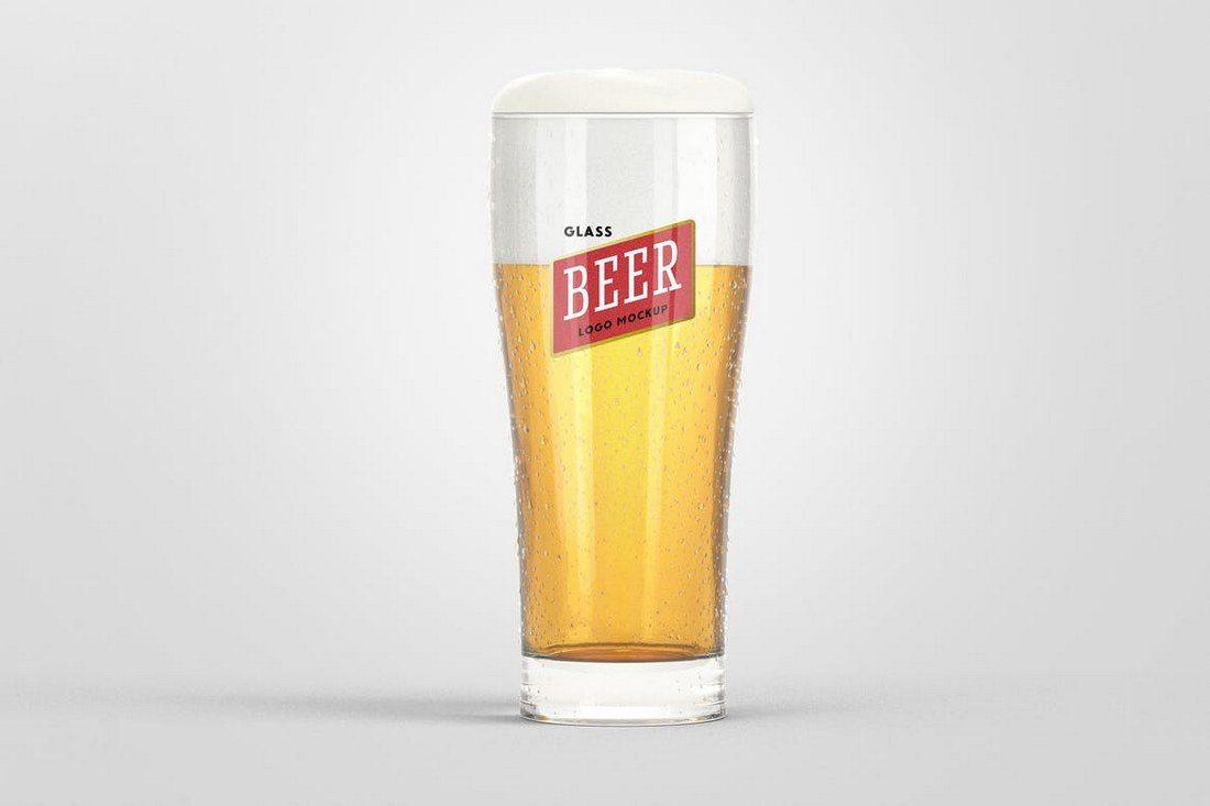 Beer-Glass-Logo-Mockup-1 20+ Best 3D Logo Mockup Templates design tips