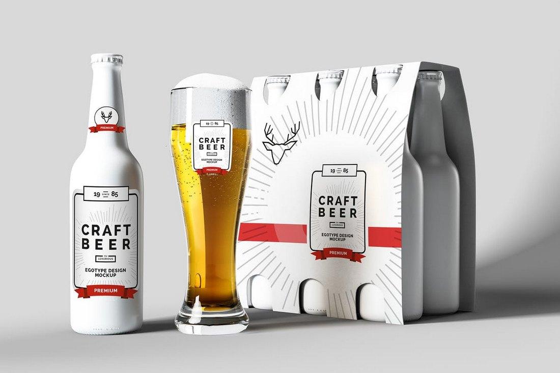 Beer Mock-up White Matte