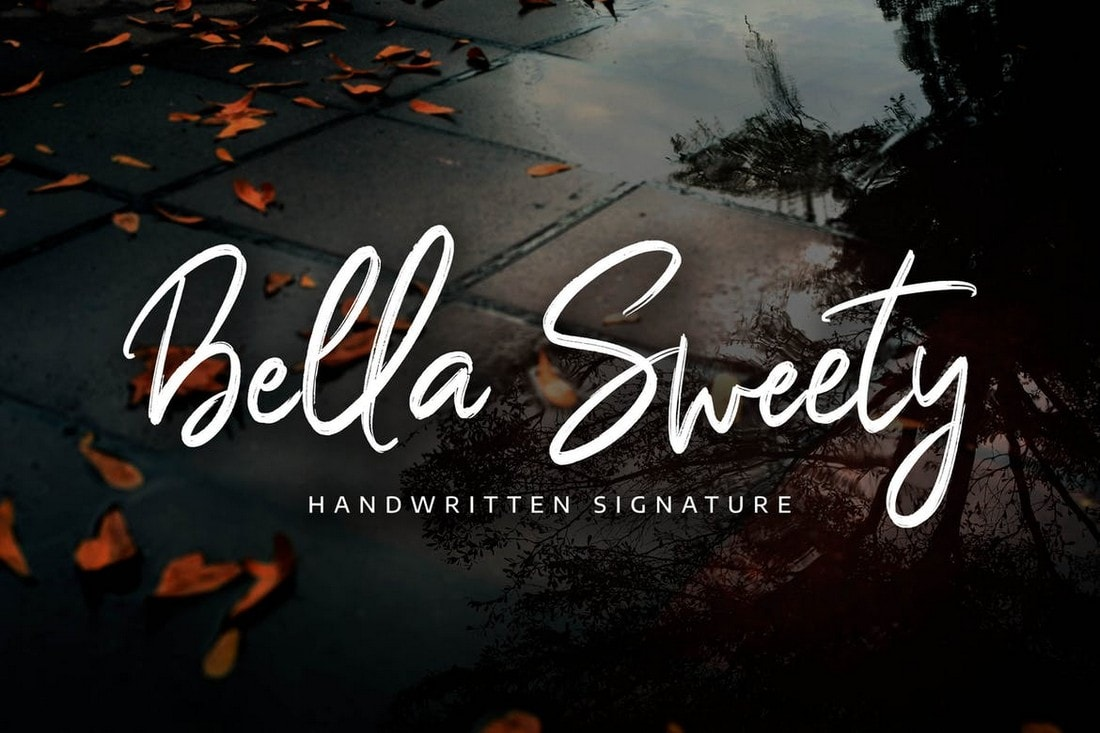Bella Sweety - Handwritten Signature Font