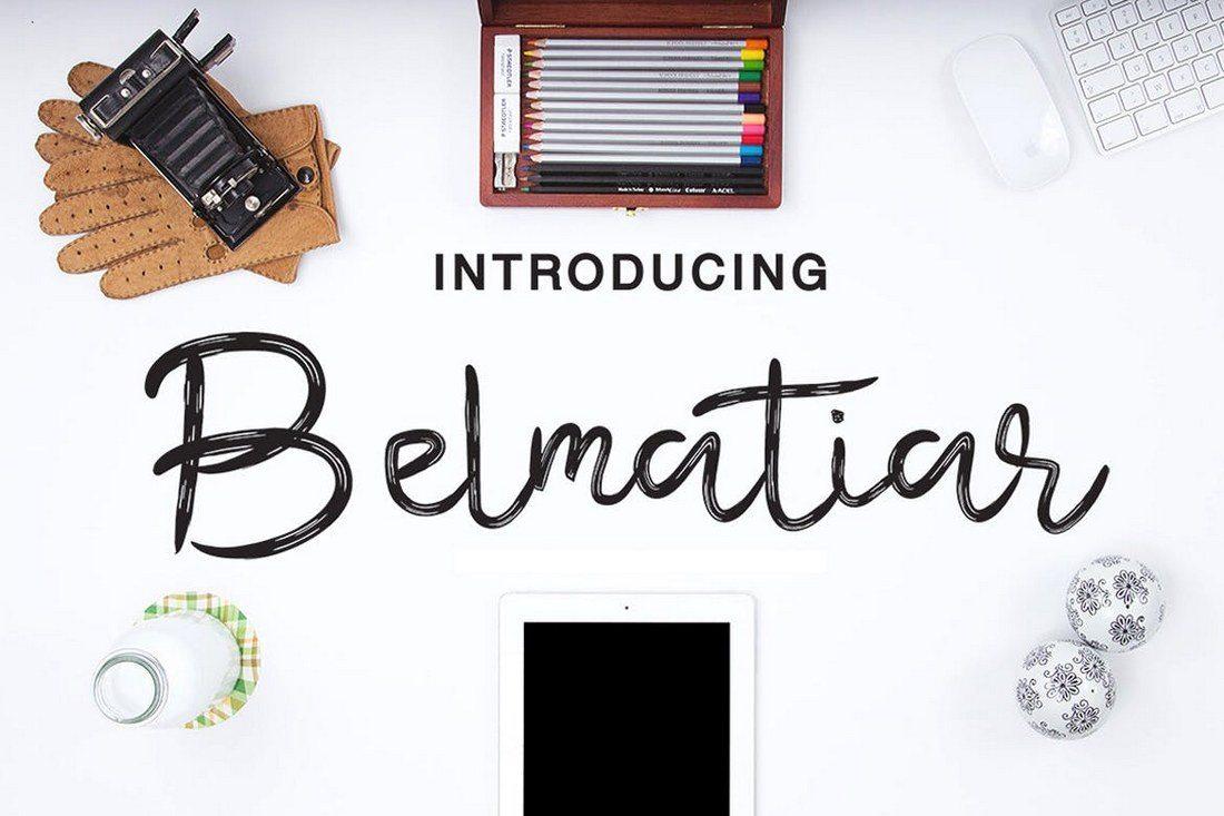 Belmatiar-Hand-Lettering-Font 30+ Best Hand Lettering Fonts design tips