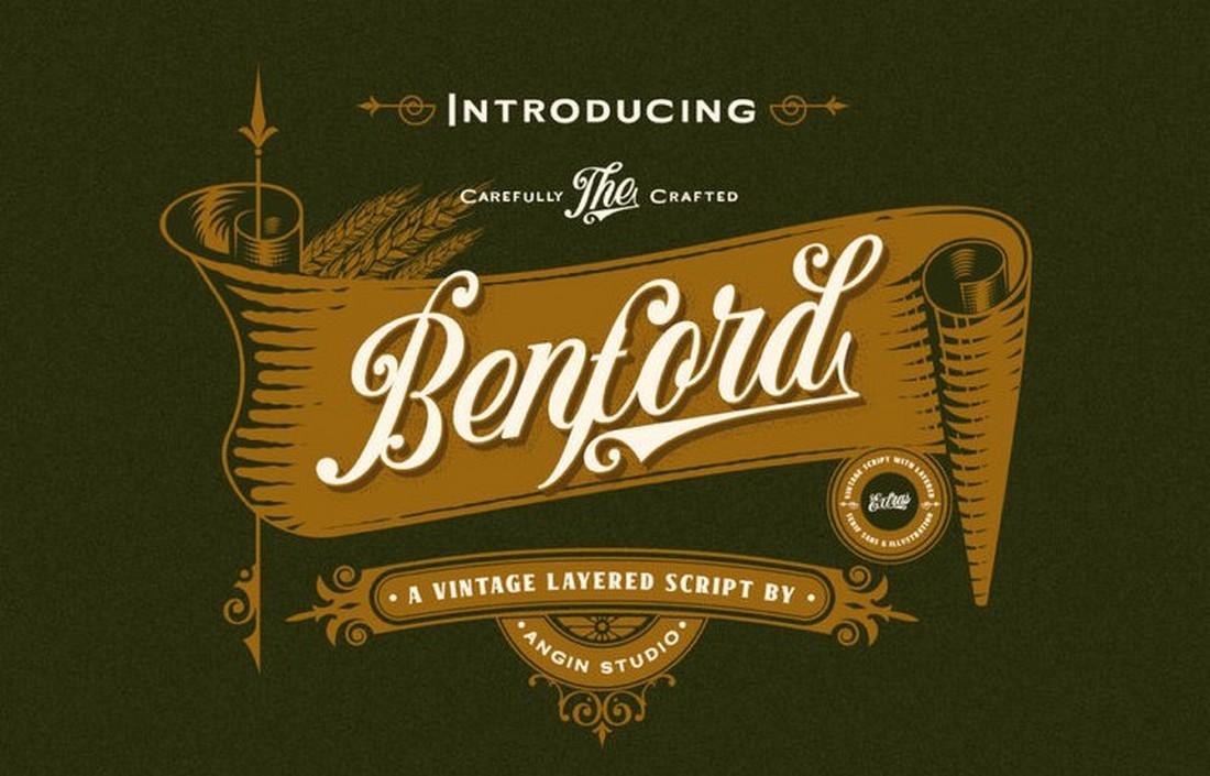 Benford - Free Vintage Logo Font