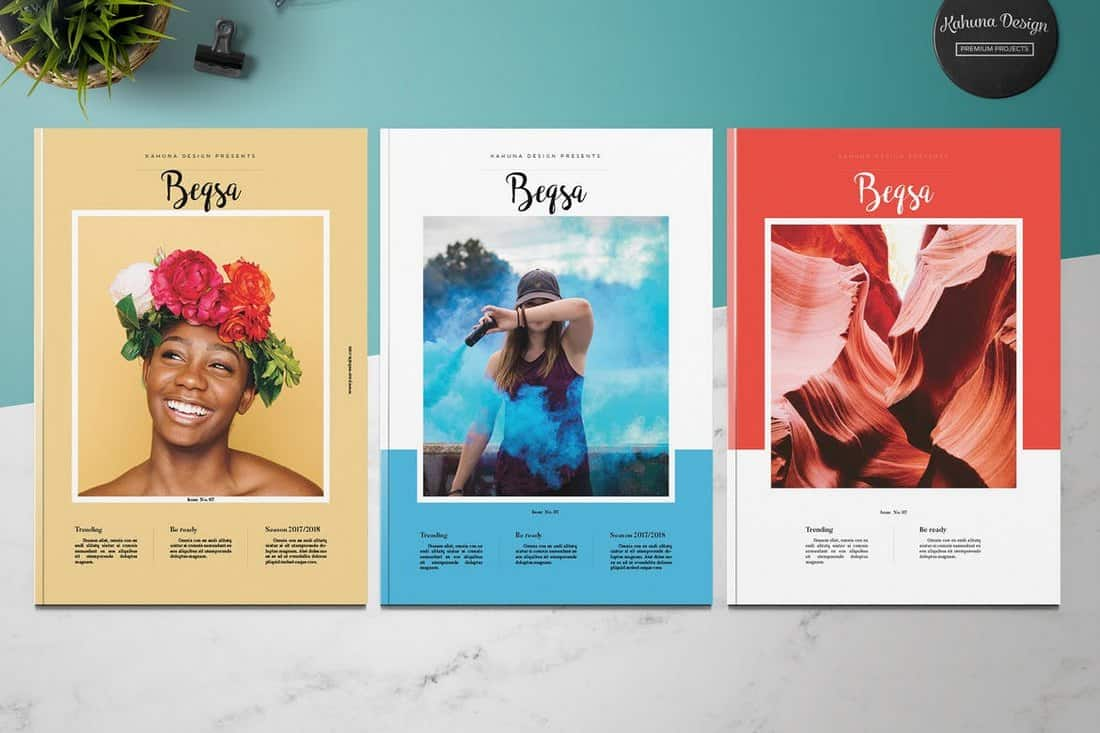 Beqsa Magazine InDesign Template