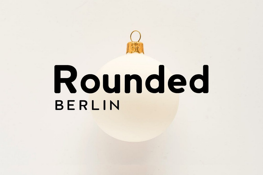 Berlin Rounded - Modern Display Font