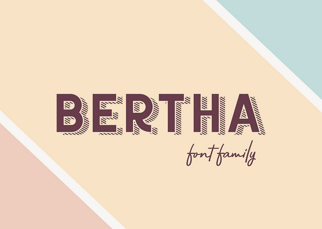 Bertha - Free Retro Font Family