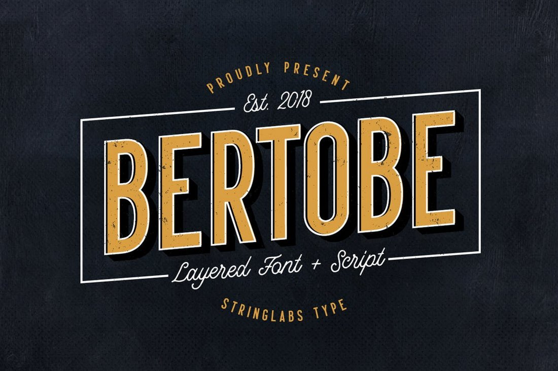 Bertobe-Layered-Font 20+ Best Fonts for Posters design tips