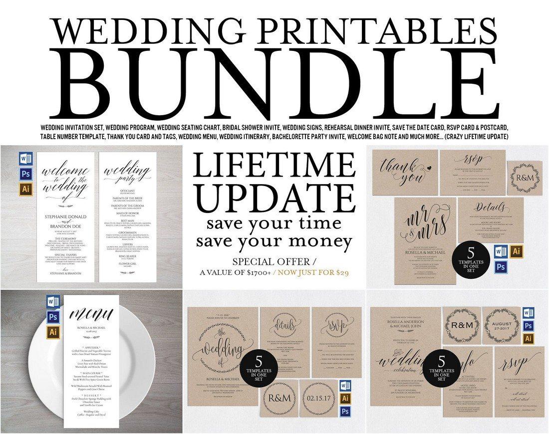 invitation wedding template