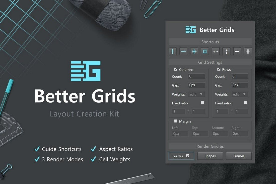 Better Grids - Layout Creation Kit Photoshop Plugin