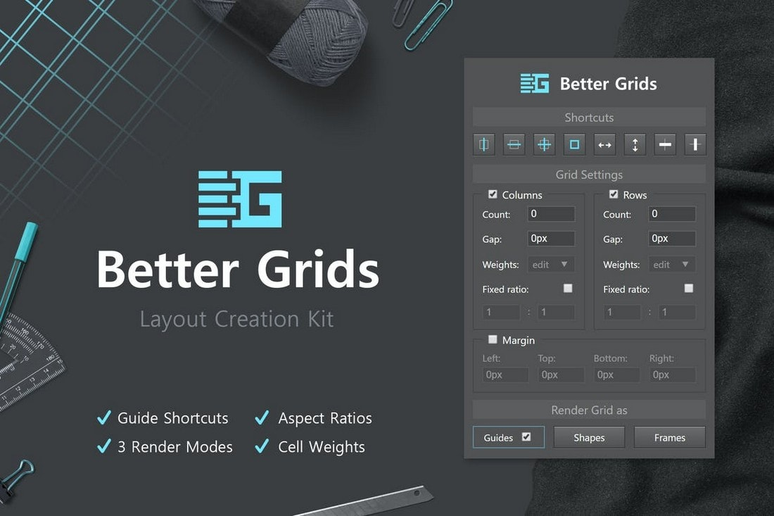 Better-Grids-Layout-Creation-Kit-Photoshop-Plugin 20+ Best Photoshop Filters + Plugins 2020 (+ How to Use Them) design tips