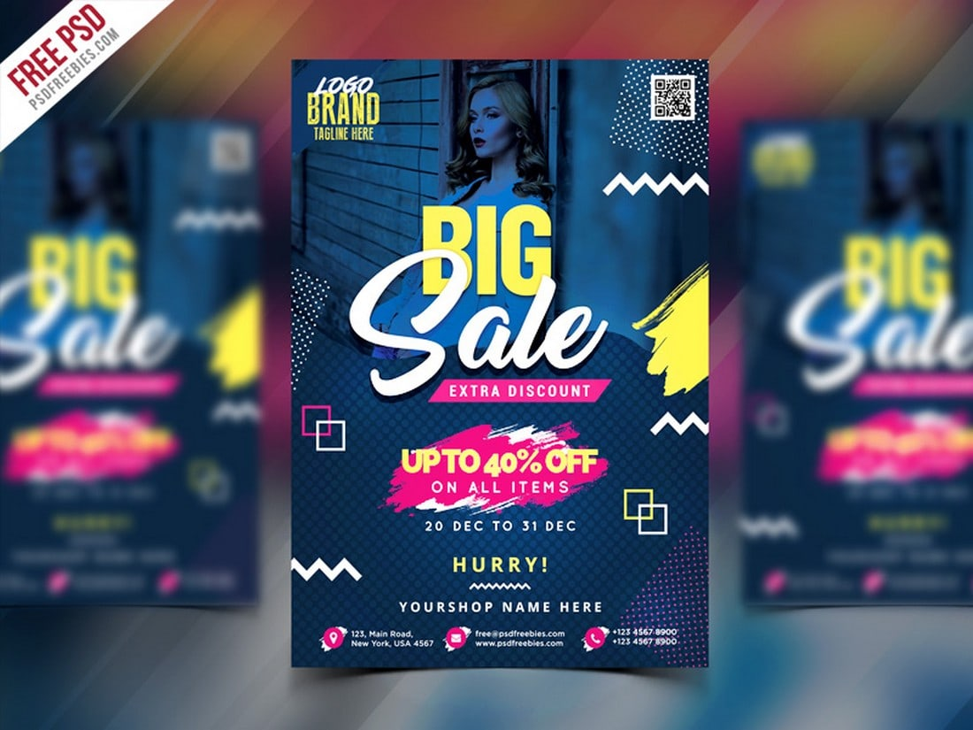 Big-Sale-Flyer-Poster-PSD-Template 20+ Best Free Poster Templates (Illustrator & Photoshop) 2020 design tips  Inspiration