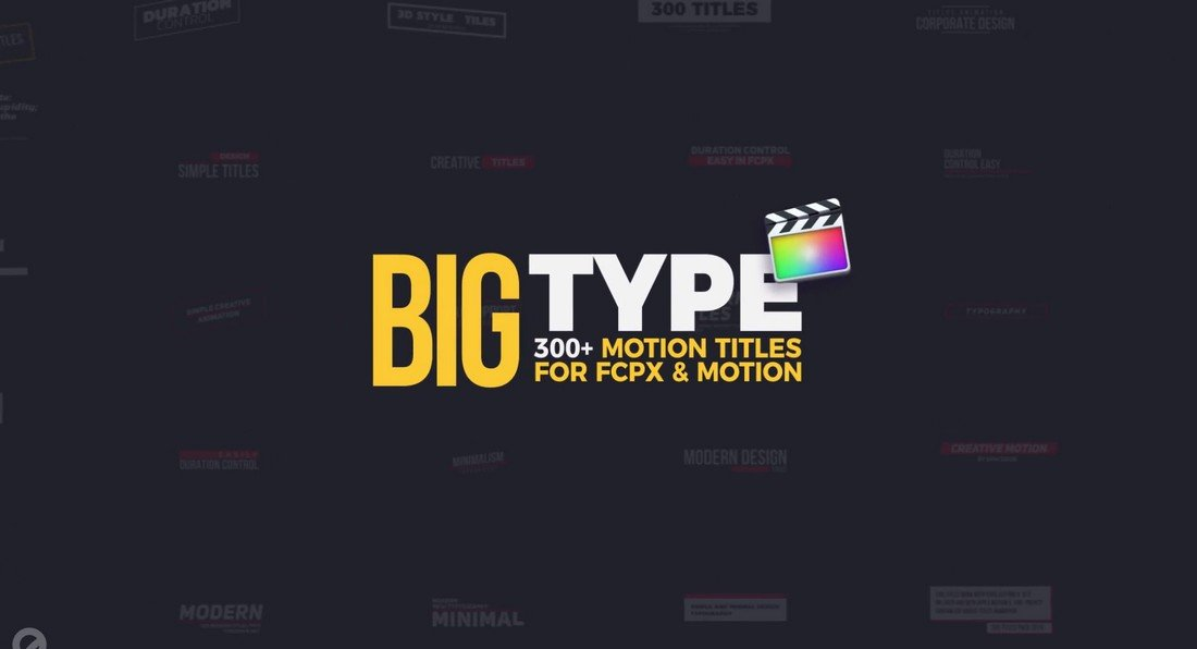 Big Type - 300 Titles for Final Cut Pro X