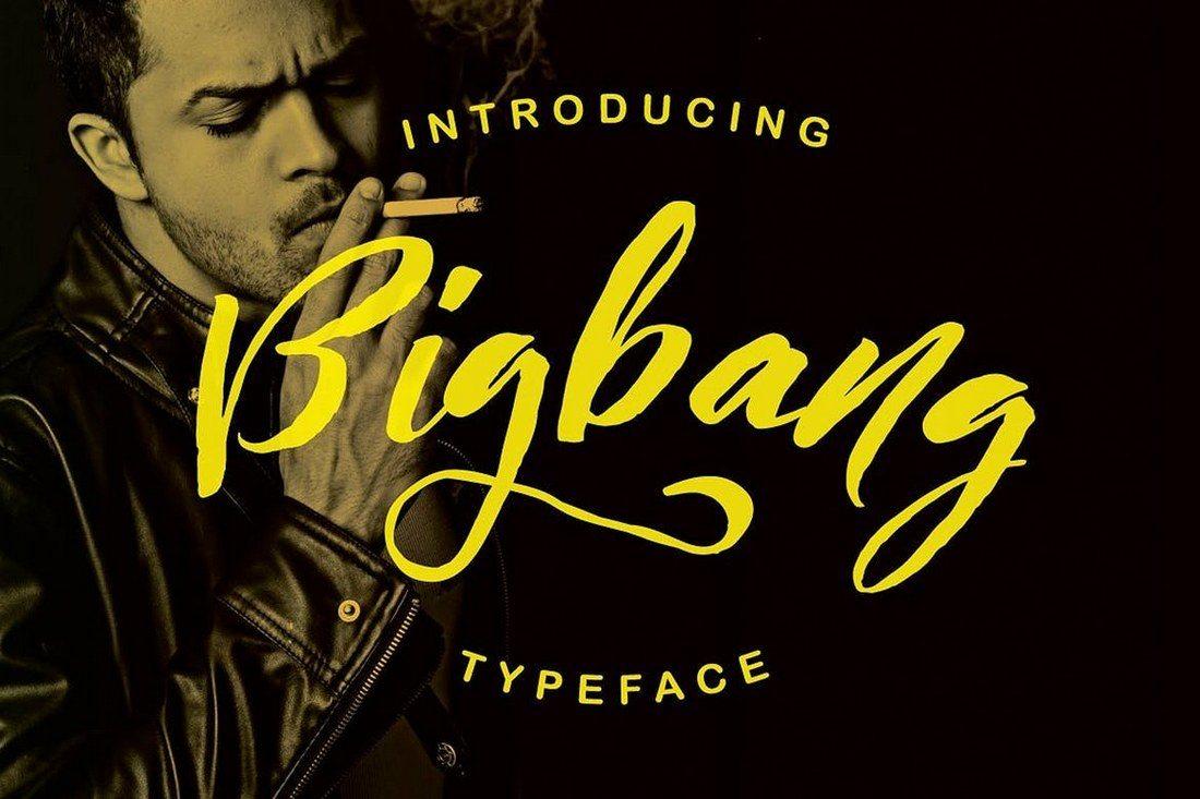 Bigbang-Typeface 30+ Best Hand Lettering Fonts design tips