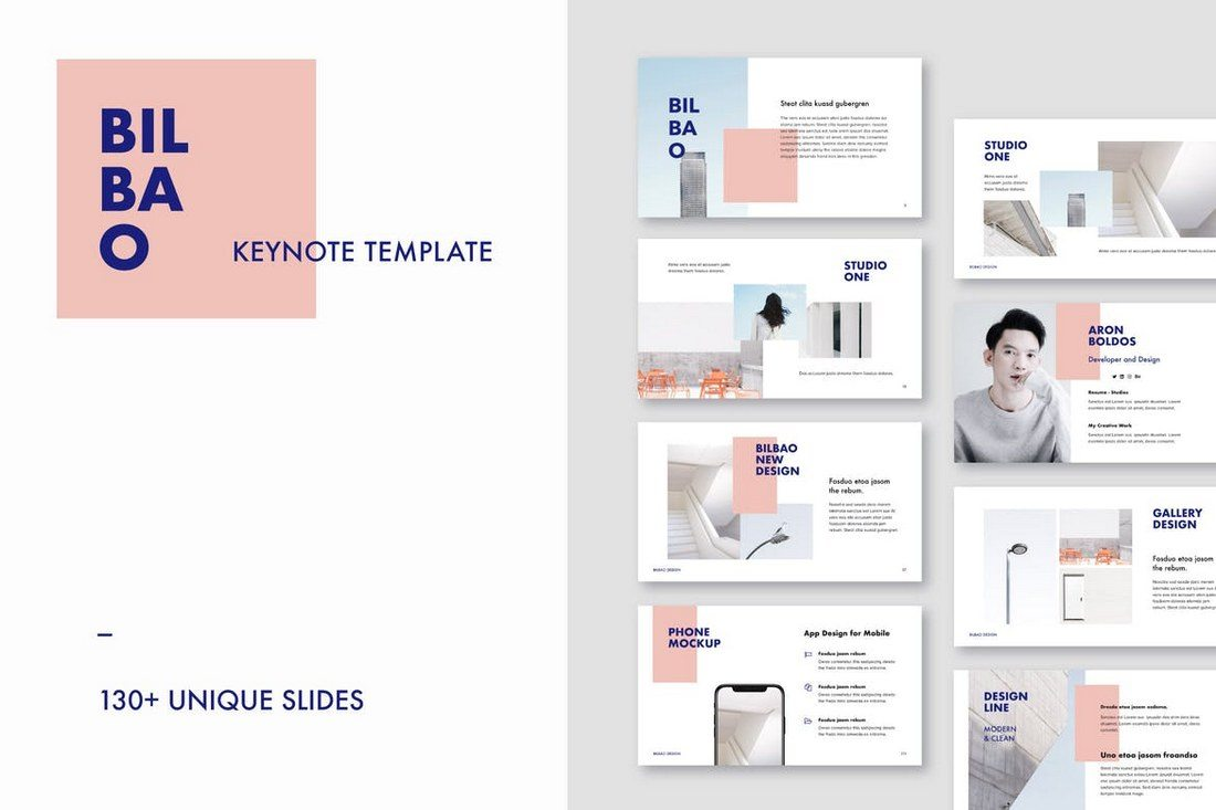 Bilbao-Keynote-Template 30+ Best Minimal & Creative Keynote Templates design tips