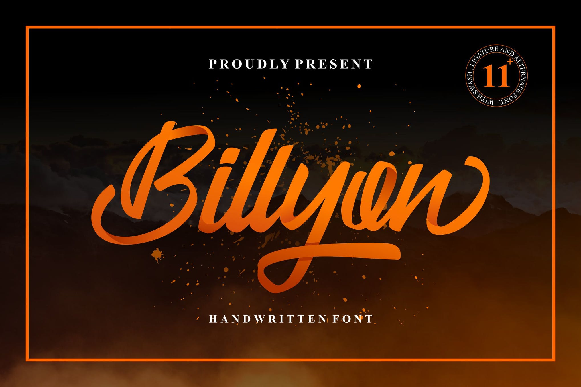 Billyon Handwriting Font