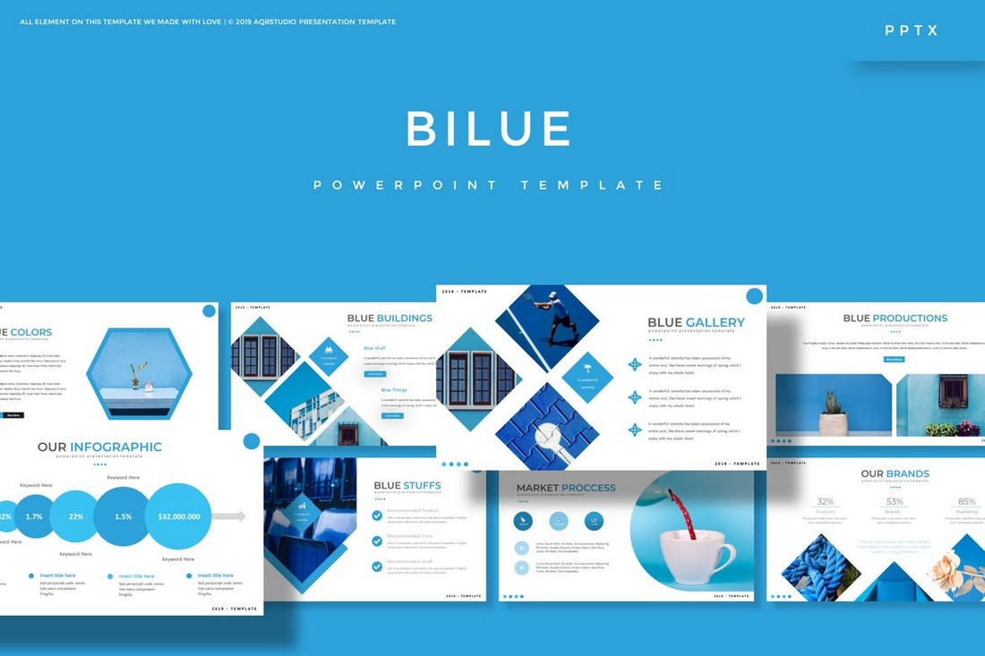 Bilue - Elegant Powerpoint Template